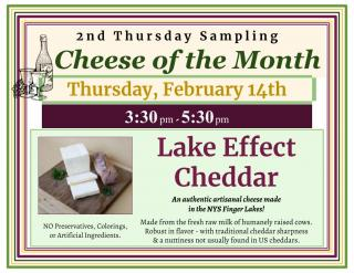 February Cheese Of The Month - Lake Effect Cheddar