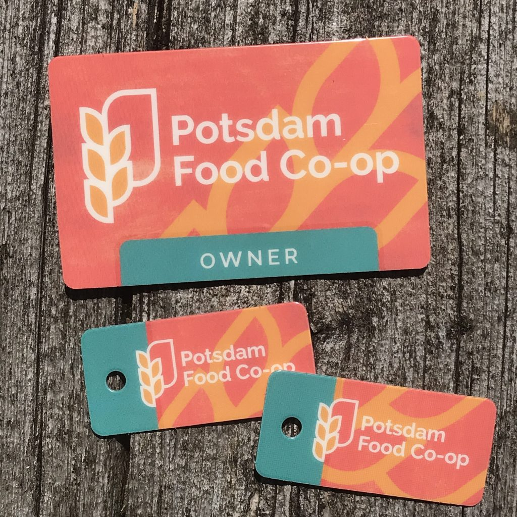 Co-op Member Card and Keyring tags with new logo and branding