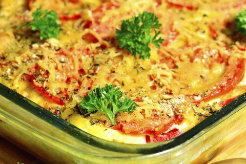 Vegetable gratin.
