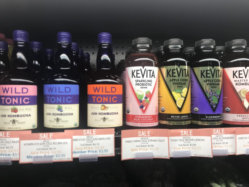 Kombucha is on sale for the month of July