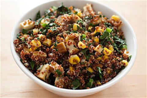 Corn Kale Quinoa Salad